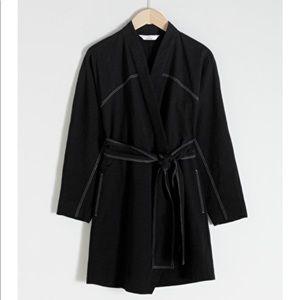 & other stories black kimono dress.